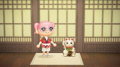 Lucky Cat Nintendo Animal Crossing: New Horizons ACNH Furniture Items