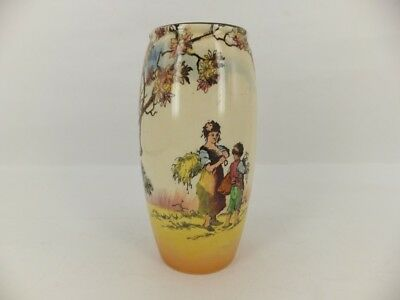 Royal Doulton Vase - Old English Scenes - The Gleaners - shape 7493