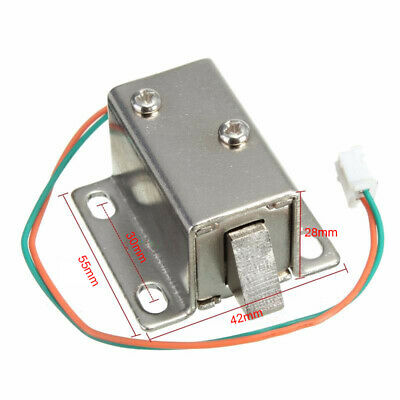 DC 12V Electric Solenoid Lock Tongue Upward Assembly for Door Cabinet Drawer