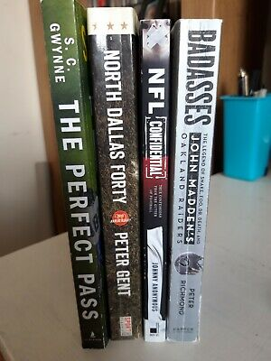 Four excellent books on American Football & the NFL - inc. Madden's Raiders