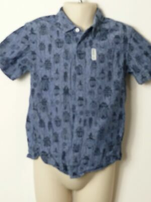 Boys Ben Sherman Blue Beetle Short Sleeve Shirt Age 5-6 Years