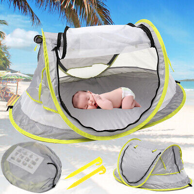 Portable Beach Tent Canopy Sun Shade Shelter Popup Anti-UV Kid Baby Travel Bed