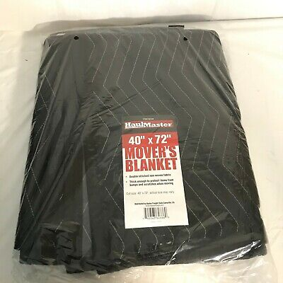 BRAND NEW IN PACKAGE, HAUL MASTER MOVER'S BLANKET, SIZE 40x72, COLOR IS BLACK!