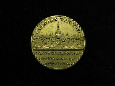 Opening of New London Bridge 1831 Commemorative Brass Medal d.28mm