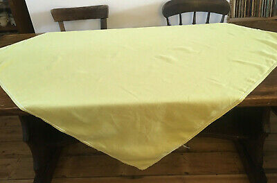 Large Vintage Linen Tablecloth Lime Green