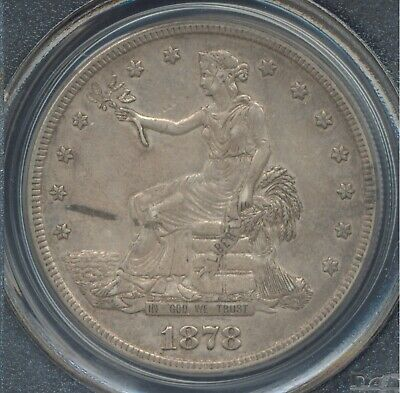 1878 S Trade Dollar PCGS XF45 excellent full strike original surfaces no reserve