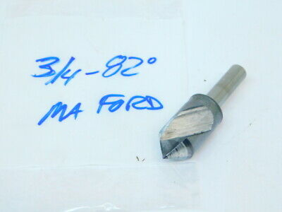 """Used M.a. Ford Hss Single Flute Countersink 3/4""""- 82° (Shank: 3/8"""")"""