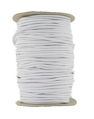 White Elastic Cord 4 mm round sold in 2 Metre lengths