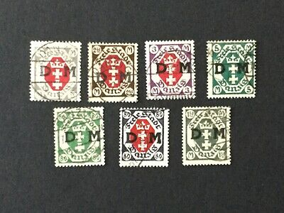 Free City of Danzig Official Stamps Used 1921-1922 Lot no 0405