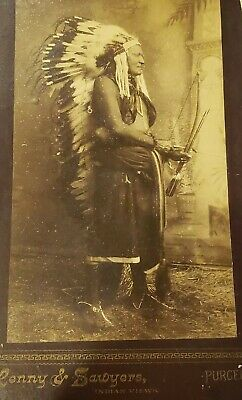 Wild Horse Second Chief Indian Chief Photo Lenny and Sawers Indian Views, Purcel