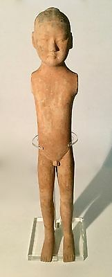 """Ancient Chinese Han Dynasty Pottery """"Stickman"""" ca. B.C. 206 - A.D. 220m"""