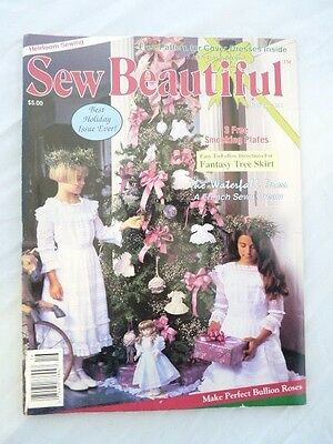 Martha Pullen's Sew Beautiful Magazine Back Issue Holiday 1991 Mary Paper Doll