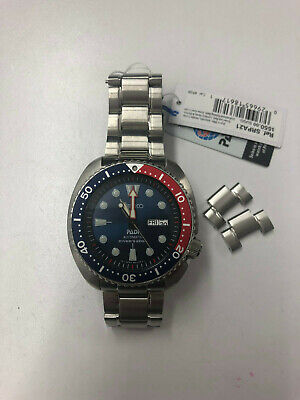 Seiko Prospex AutomaticDive Blue Dial Stainless Steel Band Mens Watch SRPA21
