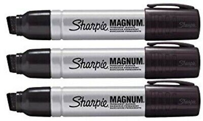 Sharpie Magnum Oversized Permanent Markers Black BRAND NEW 3 pcs