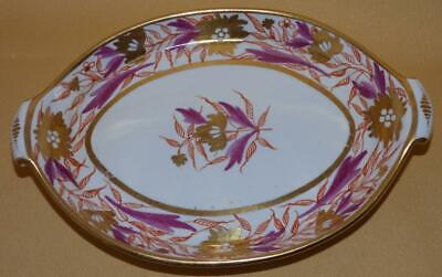 Miles Mason Puce  Red & Gold Flowers Pattern 422 Teapot Stand C1805-10