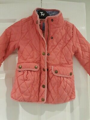 Next Girls Pink Quilted Jacket Age 7-8 Years