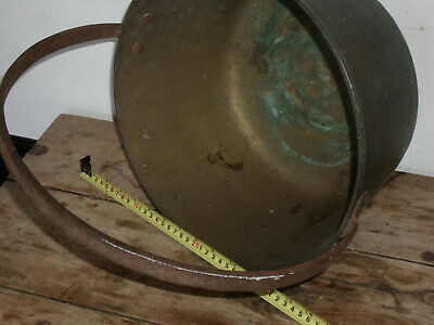 vintage couldron gypsy pot. cast iron brass. farmhouse shabby chic planter