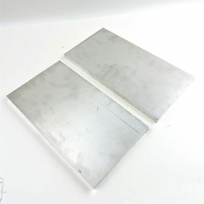 ".75"" thick 6061 Aluminum PLATE  9.75"" x 17.375"" Long QTY 2 Flat Stock sku 180053"