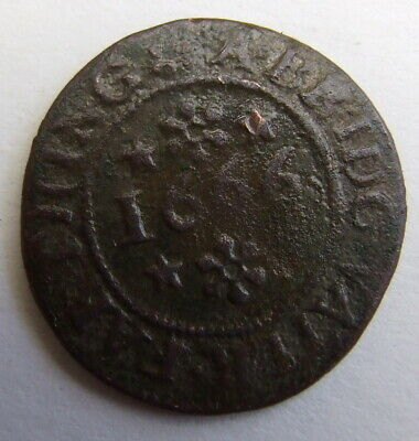 17th Century Town Farthing Traders Token 1666
