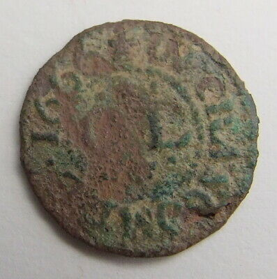 Scarce 17th Century Farthing Traders Token 1666
