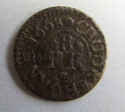 Rare 17th Century Farthing Traders Token 1668
