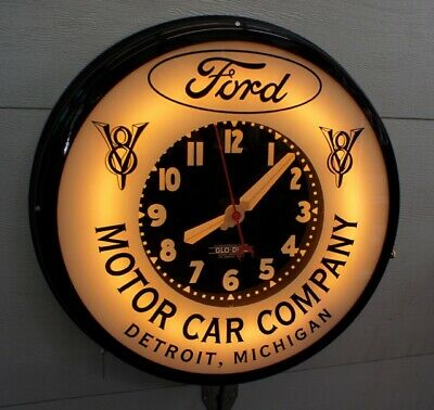 """A Ford 22""""  Dealers  Neon window Clock. New.  Only One at this time."""