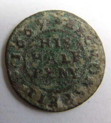 Decent 17th Century His Halfpenny Traders Token 1669