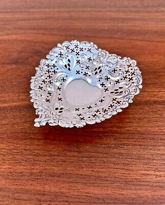 Gorham Co Sterling Silver Heart Shaped Dish - Chantilly Pattern #4300, No Mono