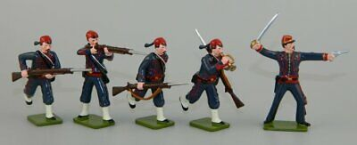 9th New York Zouaves – Officer & 4 Men by Regal Enterprises GLOSS Toy Soldiers
