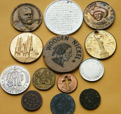 Souvenir Token Lot Roy Orgers Grant Birthplace New York Business Tokens Arcade