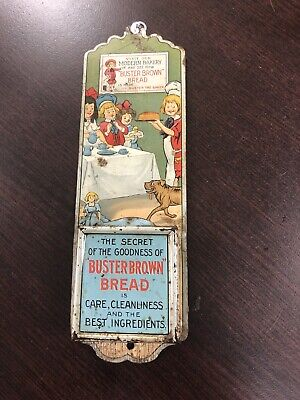 Buster Brown Bread Match Holder Tin