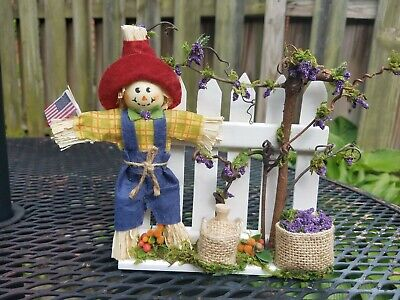 Accessory for Byers Choice Carolers Grape Harvest Season with cute Scarecrow