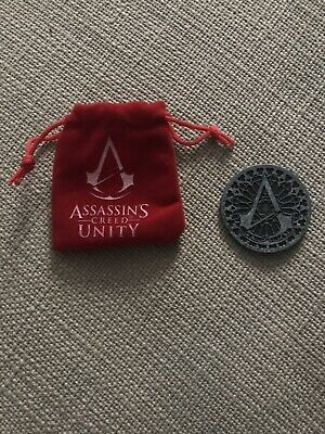 Assassin's Creed Unity Loot Crate Exclusive Challenge Coin / Token w/ Red Pouch