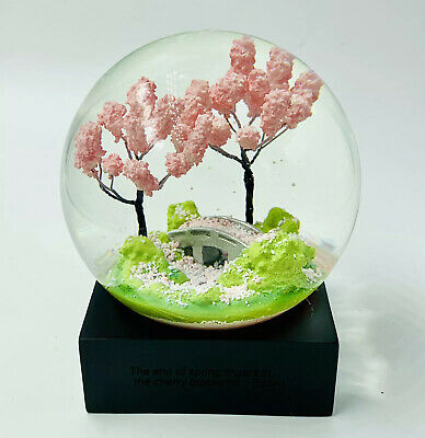 Cherry Blossom Snow Globe By Cool Snow Globes Bridge Scene Trees Water Globe