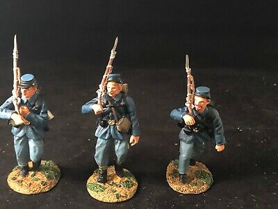 Conte Union Army Civil War  Marching Set Acw57129 3 Painted Pewter Figs