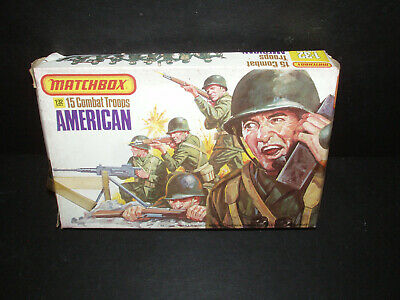 NOS BOXED Vintage Matchbox AMERICAN P6003  COMBAT TROOPS TOY SOLDIERS