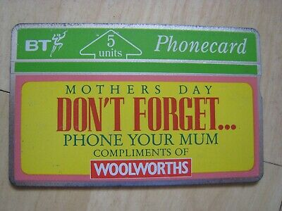 BT Woolworths Mothers Day Phonecard