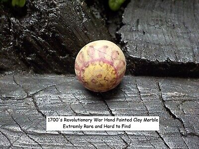 Old Rare Vintage Antique Relic Revolutionary War Hand Paint Clay Marble