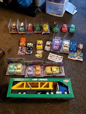 COMPLETE Chevron Cars Lot of 21 & Semi Truck Trailer VINTAGE TOYS for 96 thru 99