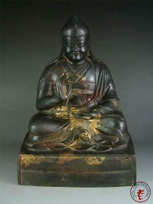 Very Large Old Chinese Tibet Gilt Bronze Made Tibetan Buddha Statue