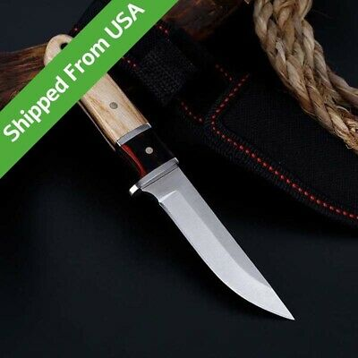 """6"""" Fixed Blade Tactical Straight Pocket Hunting Survival Knife EDC With Sheath"""