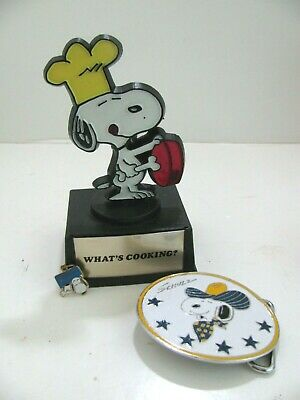 VINTAGE snoopy charm and statue lot