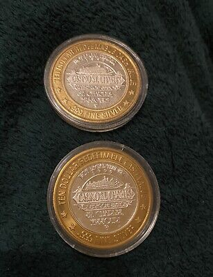 2 CASINO ST.CHARLES $10 LIMITED EDITION GAMING TOKEN .999 SILVER Missouri