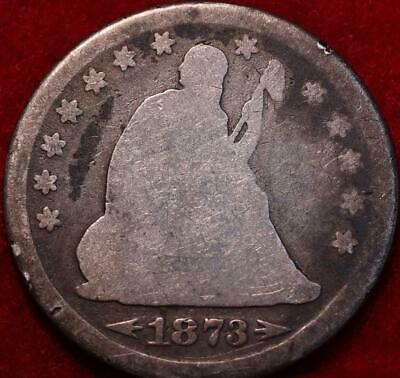 1873 Philadelphia Mint Silver Seated Liberty Quarter with Arrows