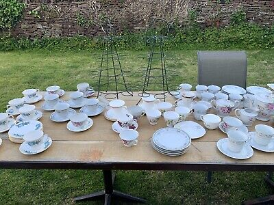 Vintage Tea sets Tea Trolley Alice In Wonderland Signs bottles/jars Job Lot