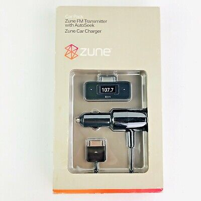 Zune Car Pack FM transmitter W/ AutoSeek Zune Car Charger Black