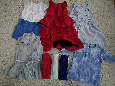 Girls summer ocassion dresses, tunic & tights mixed bundle 2-3 years