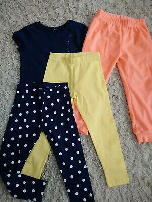 NEW Girls legging, joggers and T-shirt bundle 3-4 years