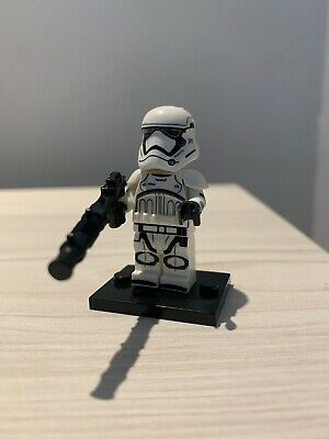 UK Ship! Star Wars STORMTROOPER Chrome Custom Brick Lego Compatible Minifigure