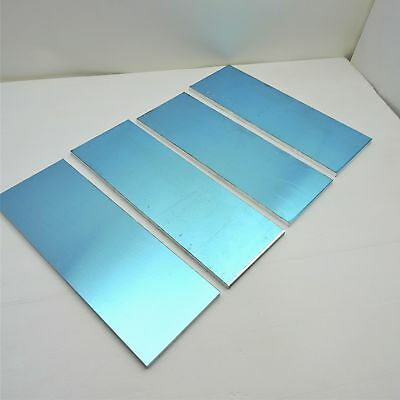 ".25"" thick 1/4 Precision CAST Aluminum PLATE 6.125""x 17.5"" Long QTY 4 sku136609"